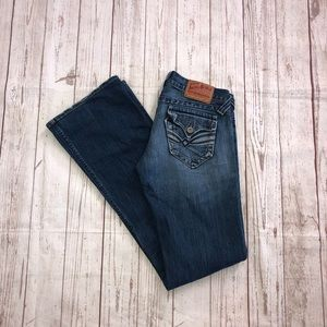 Lucky brand lil Maggie button-fly med wash size 4